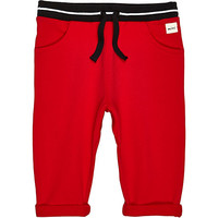 River Island Mini boys red joggers