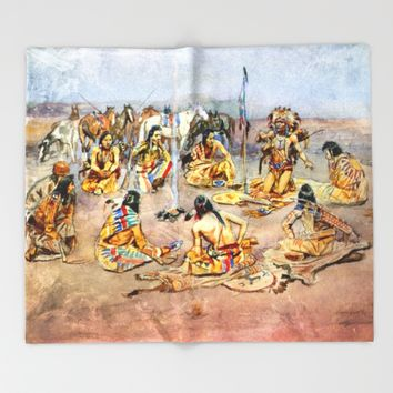 War Council Throw Blanket by Jbjart | Society6