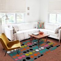 Dots Area Rugs - Colorful Area Rugs - 5x8 rug