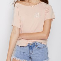GRL PWR Lace Up Back Crop Sweatshirt