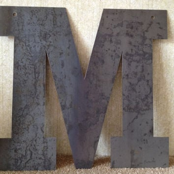 "Large Raw 18"" Metal Letter by PrecisionCut on Etsy"