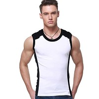 Mens Camouflage Elastic Cotton Vest Tank Top