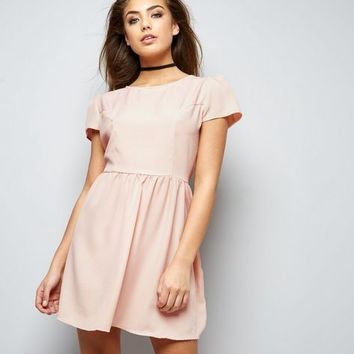 Motel Pink Cap Sleeve Dress
