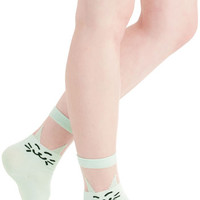 Quirky Play to Grin Socks in Mint by ModCloth