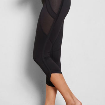 Sina Crop Leggings - Black