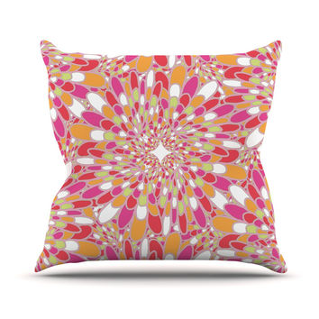 "Miranda Mol ""Flourishing Pink"" Pink Orange Outdoor Throw Pillow"