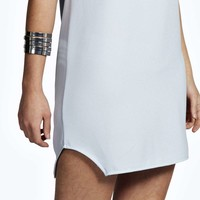 Leah Crew Neck Woven Shift Dress