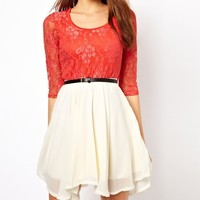funshop — LACE CHIFFON DRESS FOR GIRLS