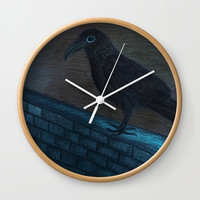 Raven Eye Wall Clock by ES Creative Designs