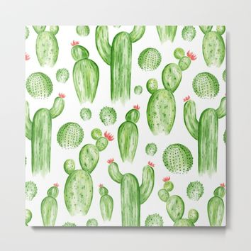 Cactus Garden Metal Print by Heather Dutton
