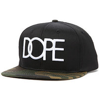 Dope Hat Dope in Woodland Camo