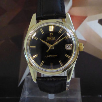 Vintage 1970 Men's Omega Automatic Seamaster 24 Jewels One Year Warranty