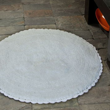 Shop Crochet Round Rug On Wanelo