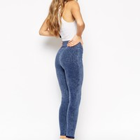 ASOS Treggings in Denim Look