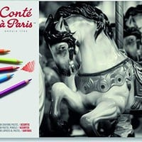 Conté à Paris Pastel Pencils with 48 Assorted Colors