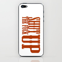 """Shhhhh"" iPhone & iPod Skin by DanielBergerDesign 