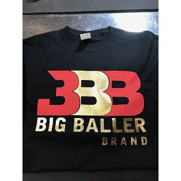 Big Baller Brand ZO2 BBB LA Sho Time Lonzo Ball Lakers Lavar Gold Foil T Shirt