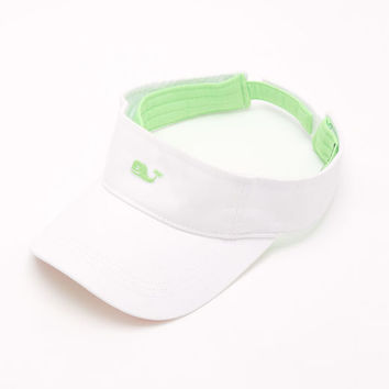 Shop Hats: Neon Whale Patchwork Visor for Women | Vineyard Vines