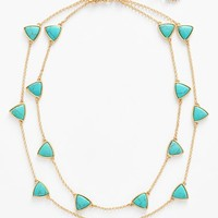 Women's Lauren Ralph Lauren Turquoise Two-Row Necklace