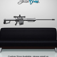 Graphic Wall Decal Sticker 50 Cal Sniper Gun  #JH171