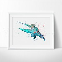 Wasabi Watercolor Art Print