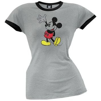 DCCK8UT Mickey Mouse Distressed Mickey Juniors T-Shirt