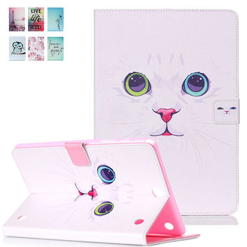 Case For Samsung Galaxy Tab A 9.7 SM-T550 T555 Smart Case Stand Flip Cute Kids Tablet Case Cover w/Screen Protector Stylus Pen