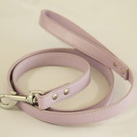 Purple dog Leash, Pet accessory, Lilac Leather leash