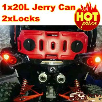 20Liter Petrol Jerry Cans Red Plastic Motorcycle Gasoline Fuel Tank Mount Lock 5Gallon Gas Can Petrol Jerrycan Jerrican