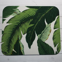 banana leaves Mouse Pad mousepad / Mat - Round or rectangle -   home office decor accessory