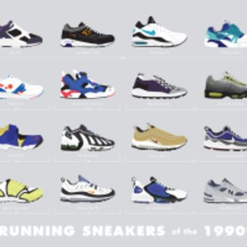 Running Sneakers of the 1990s