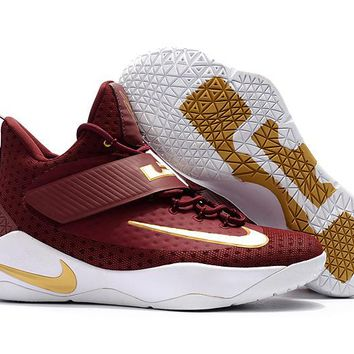 VAWA Nike Men's Lebron Soldier 11 Basketball Shoes Wine Red