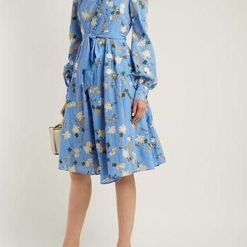 Neville Mariko Meadow-print cotton dress | Erdem | MATCHESFASHION.COM US