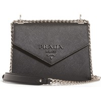 Prada Monochrome Saffiano Leather Shoulder Bag | Nordstrom
