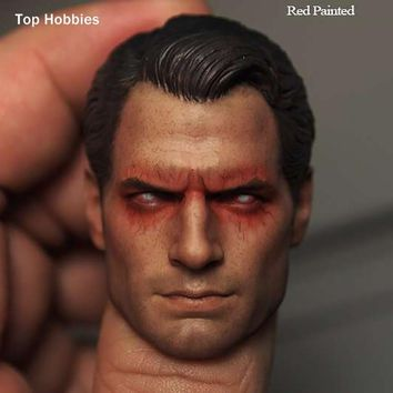 """Batman Dark Knight gift Christmas Scale 1:6 Superman War Batman Henry Cavill Head Sculpt Red Eyes Version For 12""""Phicen Action Figures Of The Male Body Doll Toy AT_71_6"""