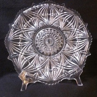 Pressed Glass Cake Presentation Plate  (645)