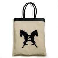Castor Pollux Hand Embroidered Summer Tote Bag - Castor & Pollux