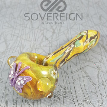 Butterfly Spoon Pipe by Empire Glass Works