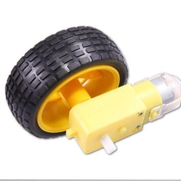 Arduino Smart Car Robot Tire Wheel with DC 3-6V Gear Motor