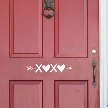 Valentines Day Decor - Door Decal - Door Decor - Valentines - Valentines Day - xoxo - Valentines Day Decorations - Classroom Decorations