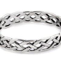 Celtic Openweave Ring in Sterling silver