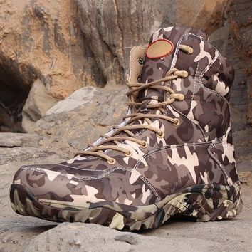 Men's Tactical Boots Waterproof Hiking Ankle Boots Men Outdoor Climbing Hiking Trekking Shoes Tactical Hunting Military Shoes