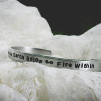 Sky Above Earth Below Fire Within Pagan Bracelet - Custom Bracelet - Triple Goddess - Personalized Pagan - Pagan Jewelry - Wiccan