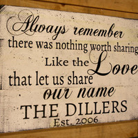 Always Remember There Was Nothing Worth Sharing Like The Love Wood Sign Avett Brothers Pallet Wood Sign Wedding Anniversary Personalized