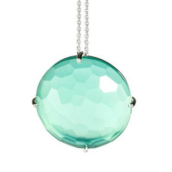 Suzanne Kalan Sterling Silver 20mm Round-Cut Gemstone Pendant Necklace