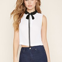Contrast-Collared Top