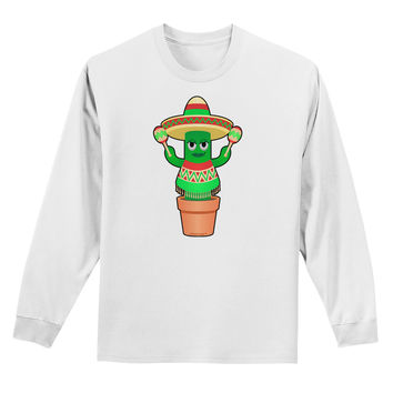 Fiesta Cactus Poncho Adult Long Sleeve Shirt