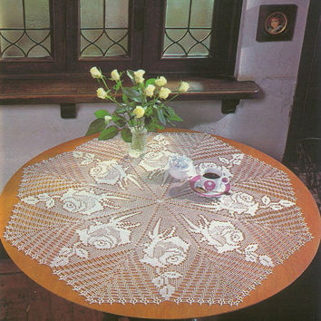 Handmade Crochet Doily, Crochet Table Center, Cottage chic, Country Style