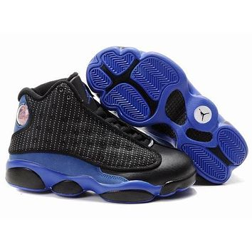 Nike Jordan Kids Air Jordan 13 Retro Black/Royal Blue Color Kids Sneaker Shoe US 11C