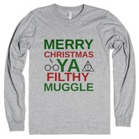 Filthy Muggle-Unisex Heather Grey T-Shirt